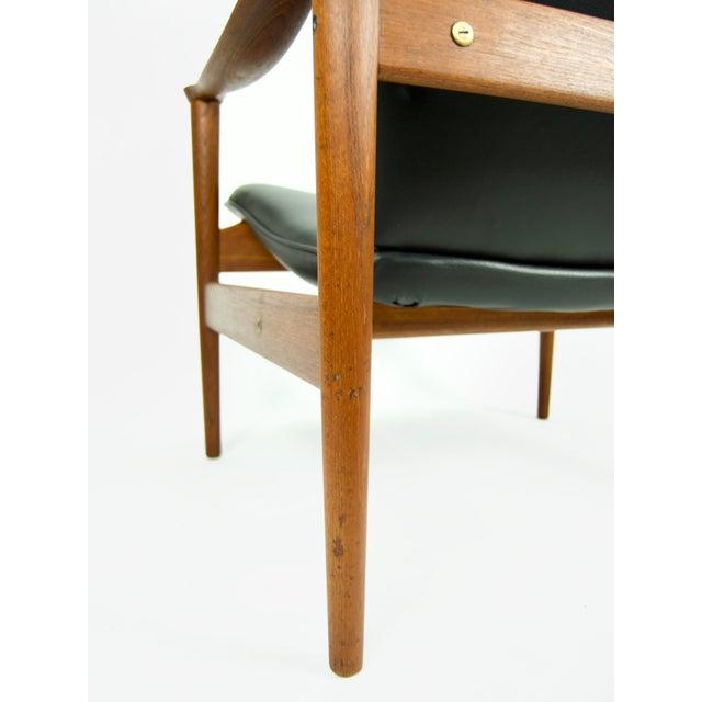 1950s Vintage Fredrik Kayser for Vatne Lenestolfabrik Model 711 Lounge Chair For Sale - Image 11 of 13