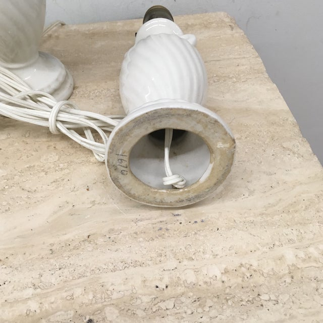 Mediterranean Lamps - Vintage Petite Urn Shaped Lamps - a Pair- For Sale - Image 3 of 6