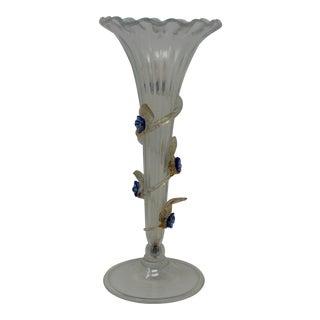 1940s Ercole Barovier Vintage Stem Vase For Sale