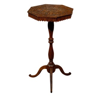 19th Century Carved Walnut Pedestal Table From the Black Forest