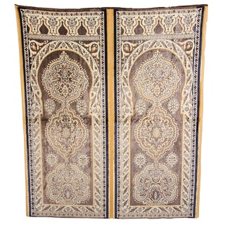 Antique Moroccan Moorish Silk Tapestry For Sale