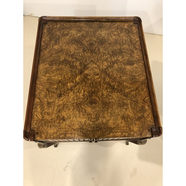 Vintage Baker Furniture Mahogany and Burl Wood Side Tables - Pair For Sale - Image 9 of 12
