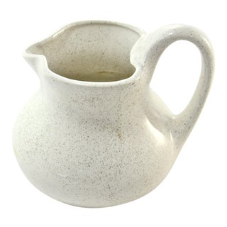 Brush Speckle Glaze Farmhouse Jug For Sale