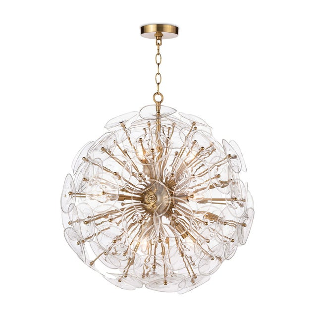 Poppy Glass Chandelier Small in Clear For Sale In Detroit - Image 6 of 6
