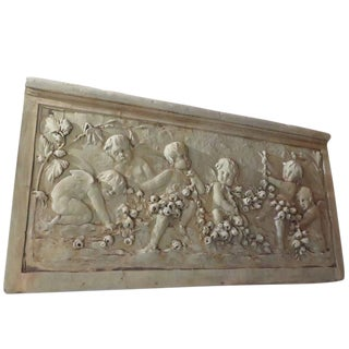 Cast Garden Relief Sculpture For Sale