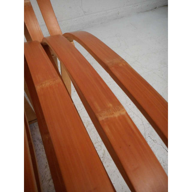 Pair of Vintage Wood-Slat Chairs For Sale - Image 9 of 11