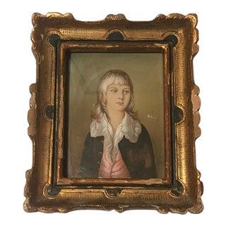 Mid 20th C. Diminutive Portrait Painting For Sale