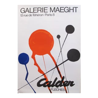 "1968 Original French Exhibition Poster - Galerie Maeght - ""fleches"" For Sale"