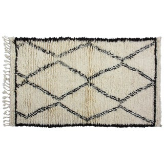 Moroccan Beni Ourain Rug - 5' x 2'8'' For Sale
