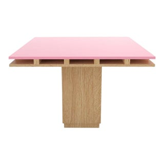 Contemporary 101C Dining Table in Oak and Pink by Orphan Work, 2019 For Sale