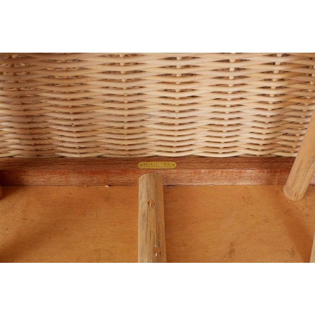 Late 20th Century McGuire Organic Modern Rattan and Wicker Daybed Sofa For Sale - Image 5 of 13