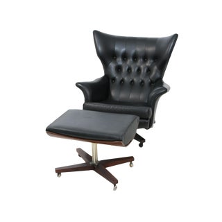 Blofeld Lounge Chair and Ottoman by G Plan