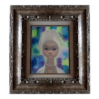 "Igor Pantuhoff Blonde Girl "" Big Eyes "" Original Signed Oil Painting For Sale"