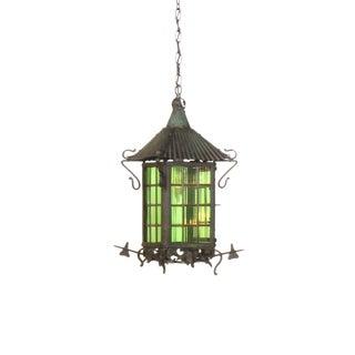 Green Arts & Crafts Lantern For Sale
