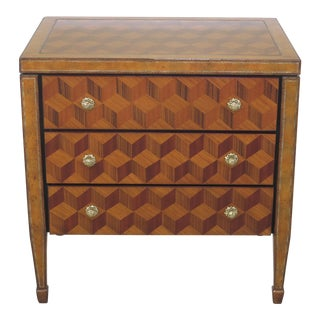 Maitland Smith Marquetry Inlaid Occasional Table