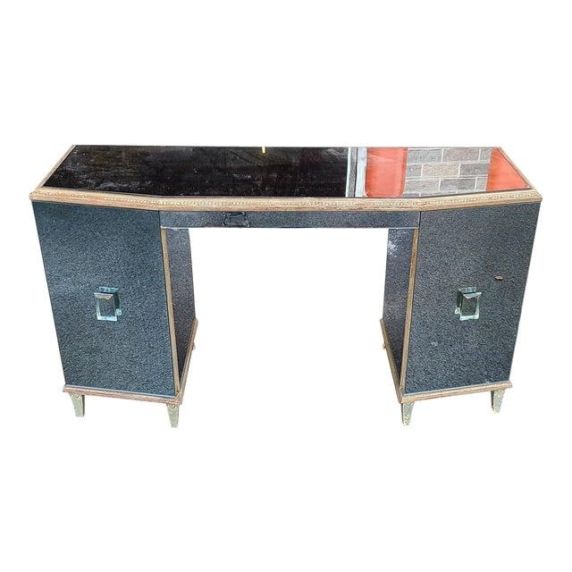 Antique Robert W. Irwin Art-Deco Mirrored Vanity Desk C1930 For Sale