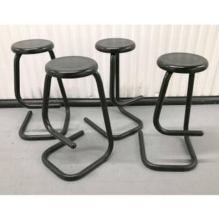 """1970s """"Paperclip"""" Bar Stools by Haworth for Kinetic Preview"""