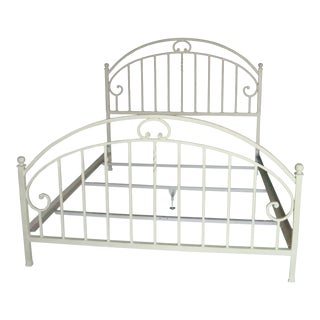 Ethan Allen Solid Iron Antique-Finish Hoop Bed (Queen)