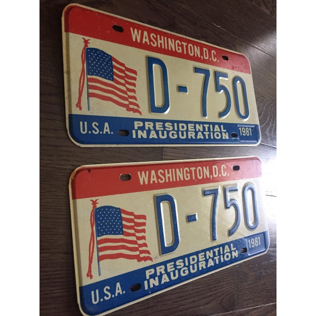 Presidential Inauguration License Plates 1981 - A Pair - Image 4 of 6