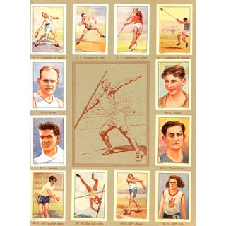 Vintage Athletics Print, France 1937