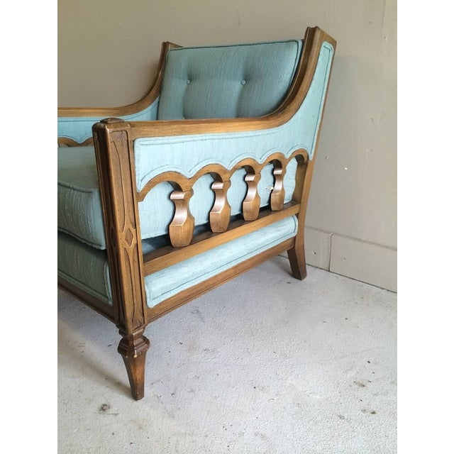 Mid-Century Hollywood Regency Style Arm Chair - Image 3 of 6