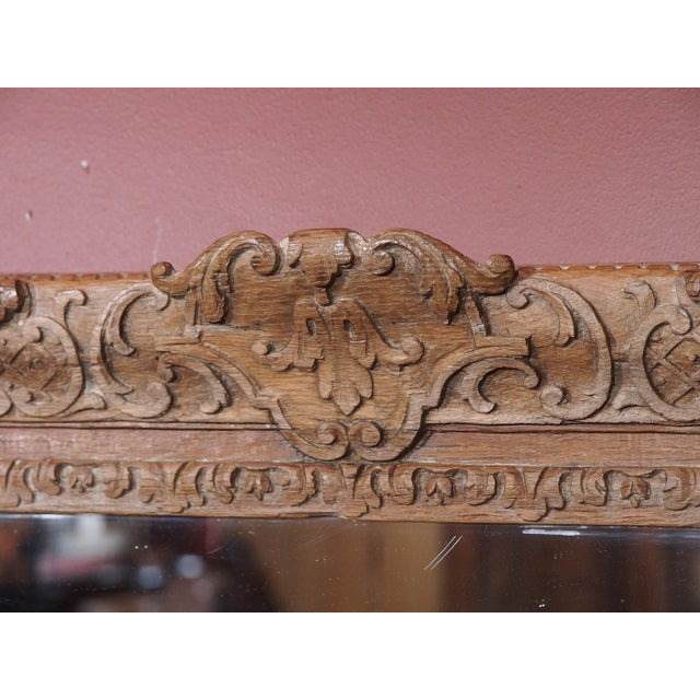 Pair of 19th Century French Carved Oak Mirrors For Sale In New Orleans - Image 6 of 11