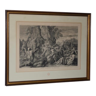 "Late 19th Century ""Moses Strikes the Rock"" Louvre Museum Old Master Etching For Sale"