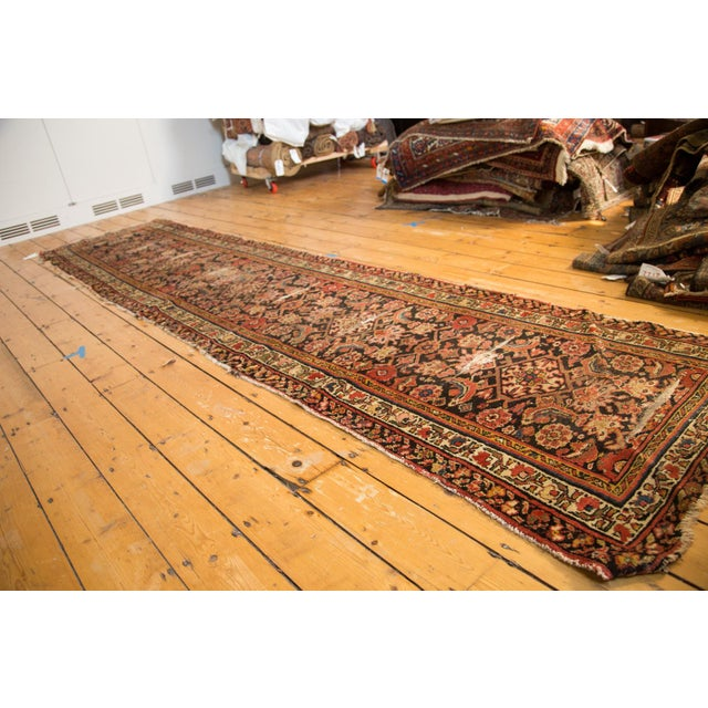 "Antique Distressed Rug Runner - 2'11"" X 12'8"" - Image 3 of 10"