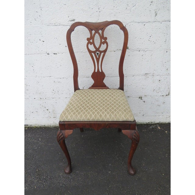 Carved Desk Vanity Chair by Berkey and Gay Furniture For Sale - Image 9 of 10