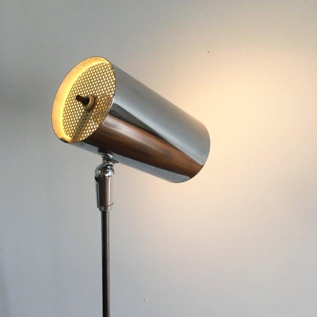 Vintage Mid Century Modern Adjustable Chrome Floor Lamp - Image 4 of 6