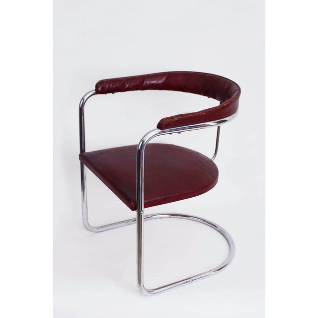 Thonet 1930s Vintage Anton Lorenz for Thonet Cantilevered Steel Tube Ss33 Chair For Sale - Image 4 of 7