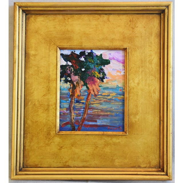 California Impressionist Landscape Seascape Painting by Juan Guzman For Sale - Image 9 of 9