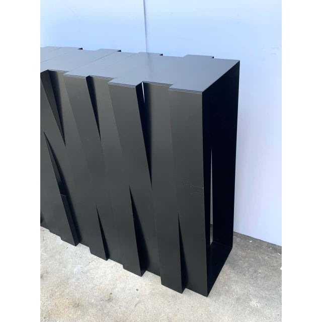 Black Modern 'Structure 12' Console by Stephane Ducatteau, France, 2008 For Sale - Image 8 of 9