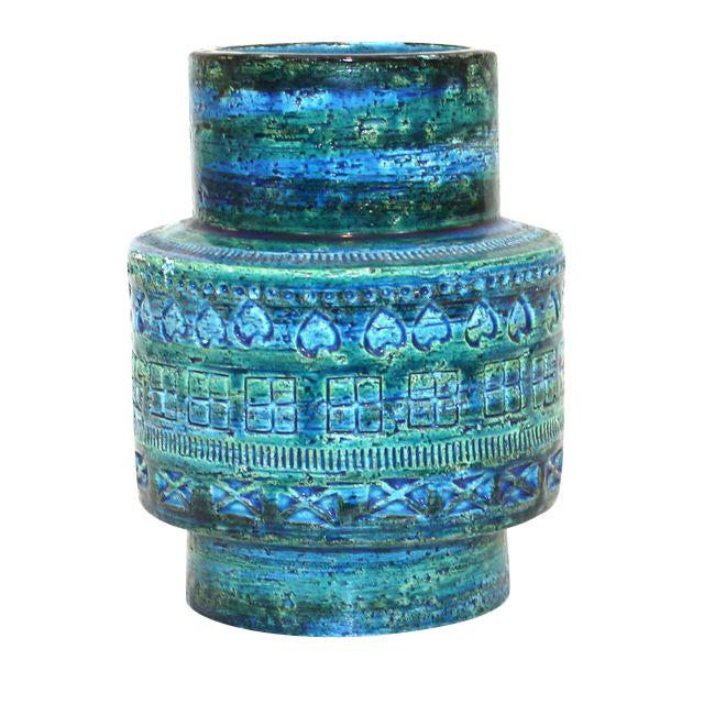 Aldo Londi for Bitossi Rimini Blue Pottery Vase - Image 1 of 5