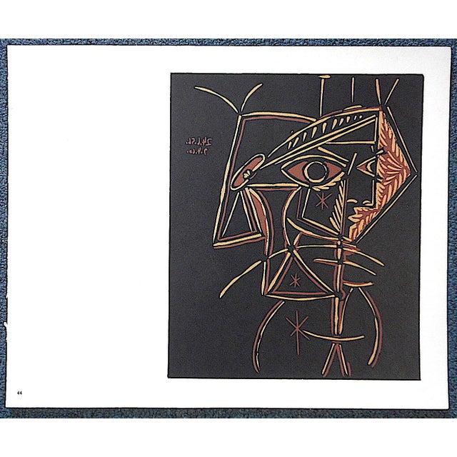 """Pablo Picasso Vintage Picasso Lithograph-""""Tete De Femme"""" For Sale - Image 4 of 4"""