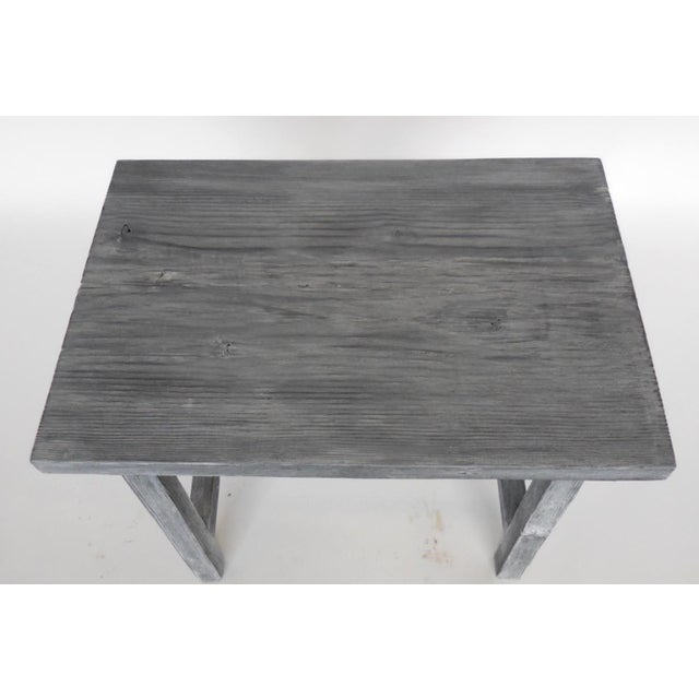 Wood Customizable Reclaimed Wood Side Table For Sale - Image 7 of 7