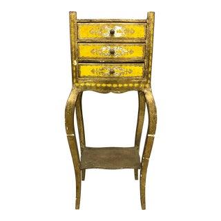 Italian Florentine Yellow Telephone Table