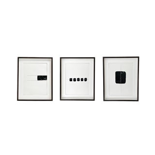 Modern Abstract Mixed Media Art - Set of 3 For Sale