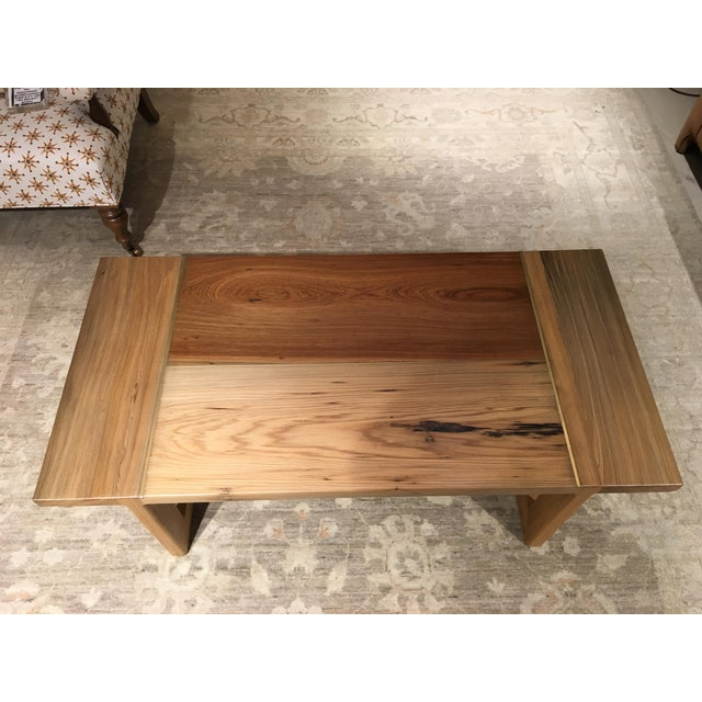 Sunken Cypress Cocktail table with Brass Inlay.