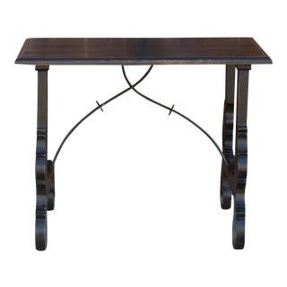 Spanish Lyra Writing Side Table For Sale