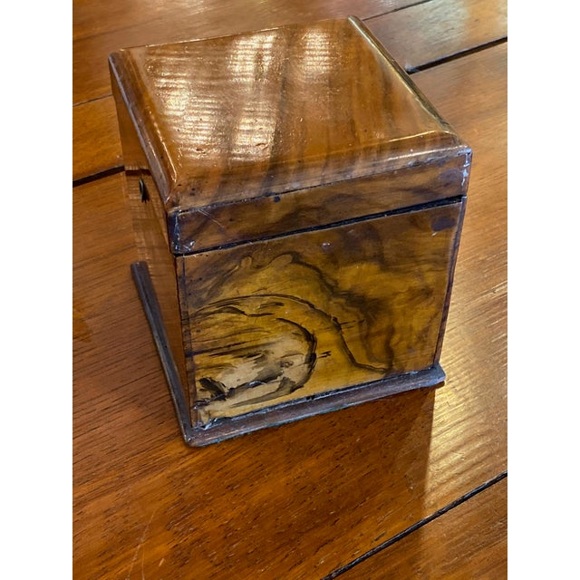 Traditional Antique Mahogany Tea Caddy For Sale - Image 3 of 7