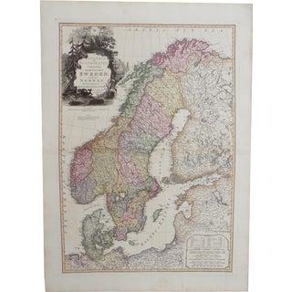 Map of Scandinavia, Sweden & Norway, 1823 For Sale