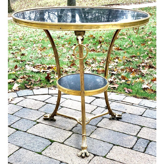 Early 20th Century Louis XVI Style Bronze 2 Tier Marble Top Gueridon Table For Sale - Image 5 of 8