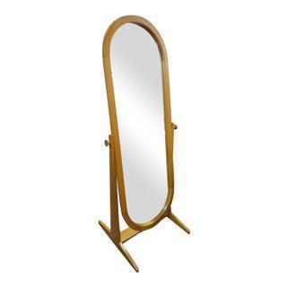 1960s Vintage Danish Modern Pedersen and Hansen Cheval Teak Mirror For Sale