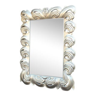 Silver Leaf Decorative Frame Mirror For Sale