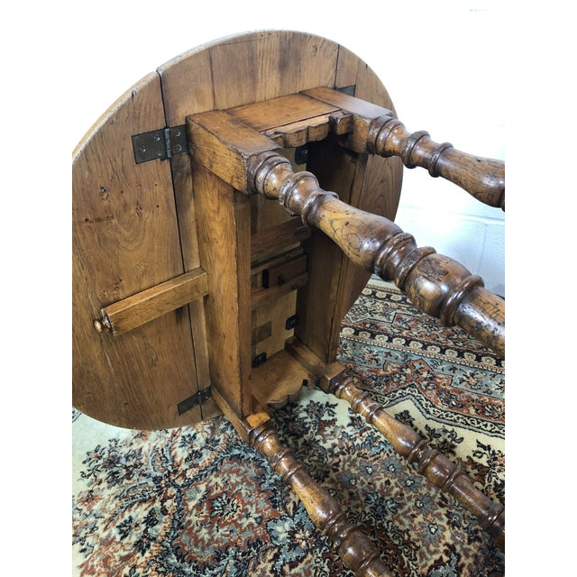 Timber 20th Century Folk Art Drop Leaf Table For Sale - Image 7 of 11