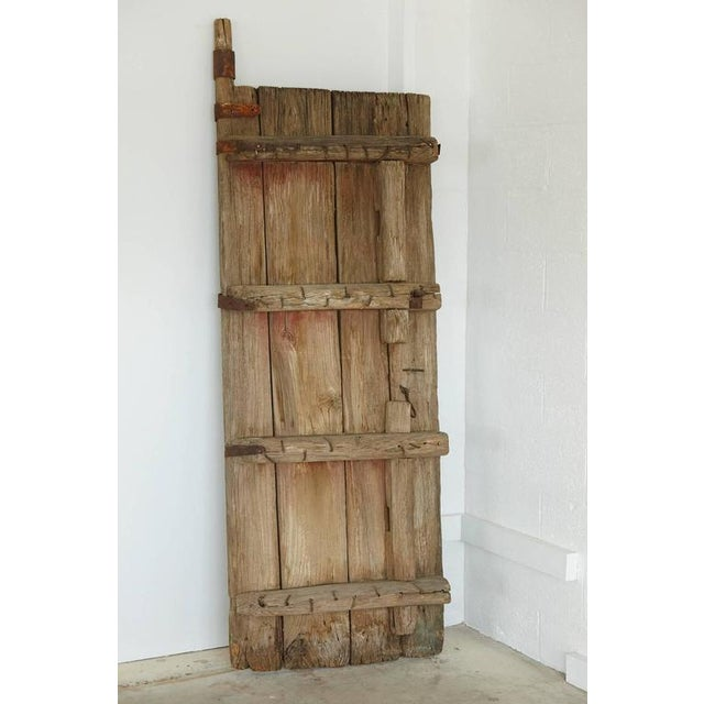 Asian Pair of Antique Chinese Oak Gate Doors For Sale - Image 3 of 10