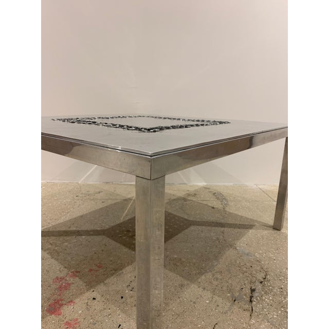 Metal 1970s Willy Luckyx Aluclair Belgian Table For Sale - Image 7 of 13