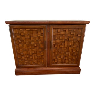 Vintage Brutalist Dry Bar Cabinet For Sale