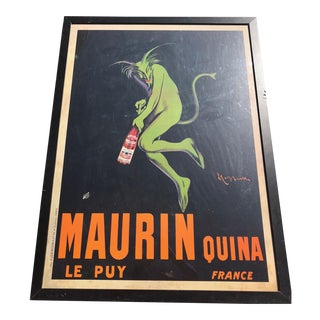 Maurin Quina Print by Cappiello Green Devil, 1906